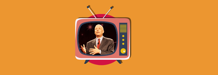 שפ הייקן בתוך טלוויזיה